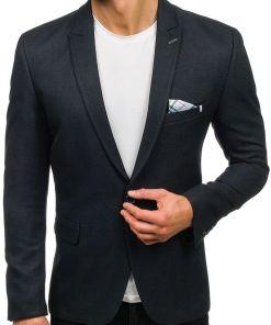 Sacou elegant pentru barbat albastru-cerneala Bolf 469
