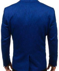 Sacou elegant pentru barbat albastru-aprins Bolf 469P