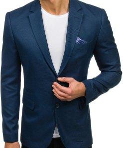 Sacou elegant pentru barbat albastru Bolf 2222