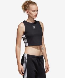 adidas Originals - Top pentru Femei - 92303 - culoarea Negru