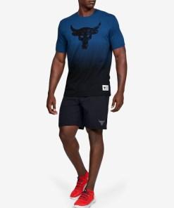 Under Armour Project Rock Bull Graphic Tricou pentru Bărbați - 93748 - culoarea Negru Albastru