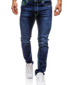 Jeansi pentru barbat bluemarin-verzi Bolf 702