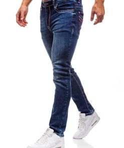 Jeansi pentru barbat bluemarin-rosii Bolf 702