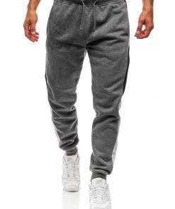Jogger jeans pentru barbat grafit Bolf KZ10