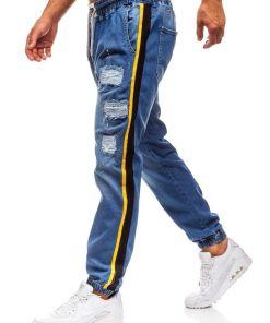 Jeansi baggy pentru barbat albastri Bolf 2041