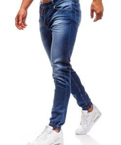 Jeansi joggers pentru barbat bluemarin Bolf 2043