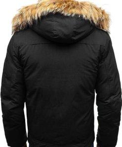 Geaca de iarna pentru barbat neagra Bolf AM703