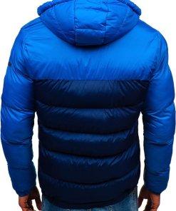 Geaca de iarna pentru barbat bleumarin Bolf A429