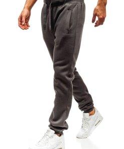 Pantaloni sportivi pentru barbat grafit Bolf AK70A