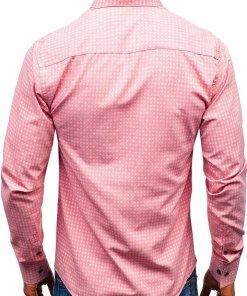 Camasa cu maneca lunga pentru barbat roz Bolf 8841