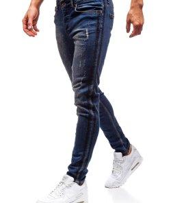 Jeansi pentru barbati bleumarin Bolf 1014