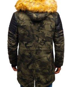 Geaca de iarna parka pentru barbat camuflaj-kaki Bolf 88832