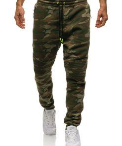 Pantaloni pentru barbati sportivi jogger camuflaj multicolor Bolf 3771C-A
