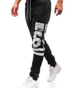 Pantaloni pentru barbati sportivi jogger negru Bolf Q3728