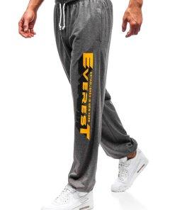 Pantaloni pentru barbati sportivi jogger grafit Bolf Q3219