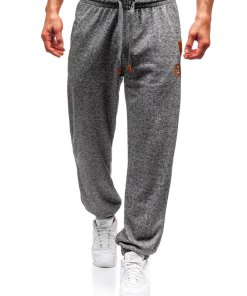 Pantaloni jogger sportivi pentru barbati gri Bolf Q3471