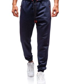 Pantaloni jogger sportivi pentru barbati bleumarin Bolf Q3779