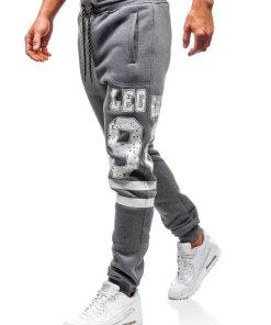 Pantaloni jogger sportivi pentru barbati grafit Bolf Q3727