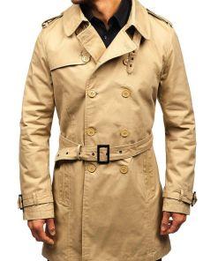 Palton barbati bej Bolf 5710