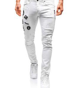 Jeansi barbati alb Bolf 4021