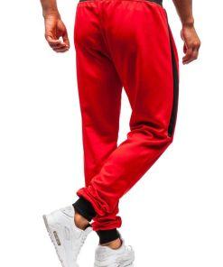 Pantaloni de trening barbati rosii Bolf 99011
