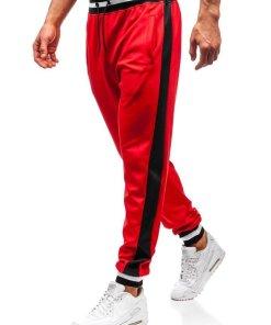 Pantaloni de trening joggers barbati rosu Bolf 99010