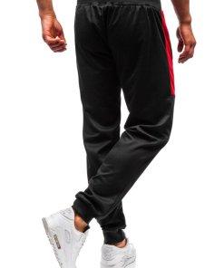 Pantaloni de trening joggers barbati negri Bolf 35006