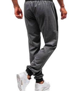 Pantaloni de trening joggers barbati grafit Bolf 35006
