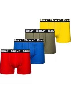 Boxeri barbati multicolor Bolf 0953-4P 4 PACK
