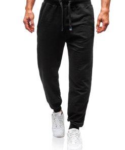 Pantaloni de trening barbati negri Bolf 145364