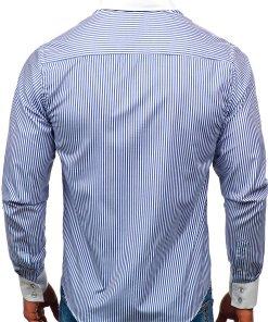 Camasa eleganta in dungi barbati albastru Bolf 0909-A