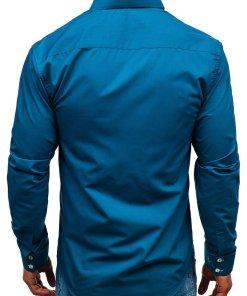 Camasa eleganta barbati albastru Bolf 1721-A