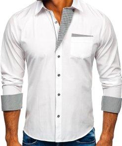 Camasa eleganta barbati alb Bolf 4713-A