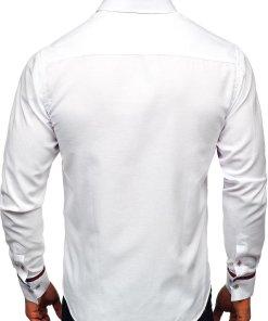 Camasa eleganta barbati alb Bolf 5801-A