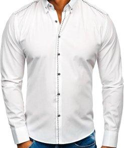 Camasa eleganta barbati alb Bolf 6920