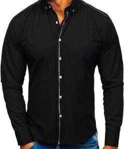 Camasa eleganta barbati negru Bolf 6920