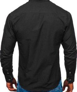 Camasa eleganta barbati negru Bolf 5796-1