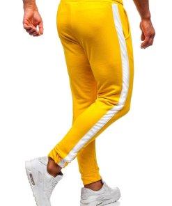 Pantaloni trening barbati galben Bolf 11120