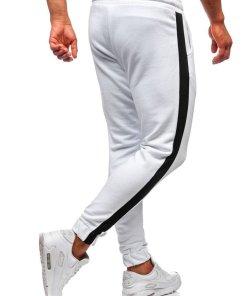 Pantaloni trening barbati alb Bolf 11120