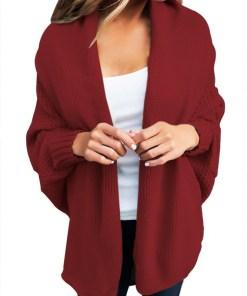 BL1006-81 Cardigan tricotat cu maneci lungi tip liliac