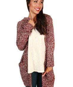 BL997-81 Cardigan tricotat, accesorizat cu buzunare si gluga