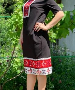 Rochie stilizata cu motive traditionale Madi 5