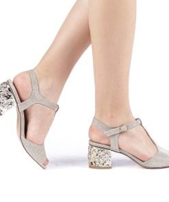 Sandale dama Letitia aurii