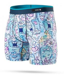 Lenjerie Monster Watercolors Boxer Brief (foundation) blue