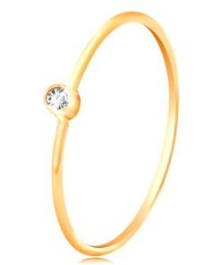 Bijuterii eshop - Inel din aur 585 cu diamante - diamant transparent stralucitor în montur? stralucitoare, brate ingusta BT502.71/77 - Marime inel: 48