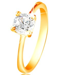 Bijuterii eshop - Inel din aur de 14K - zirconiu transparent în montur? GG215.57/64 - Marime inel: 49