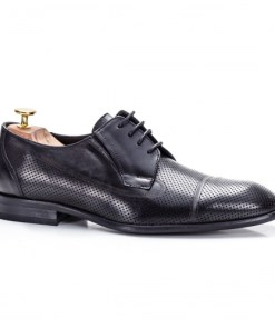 Pantofi barbati Piele naturala eleganti negri Marillew