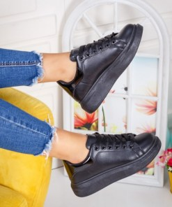 Pantofi dama sport piele ecologica negri Nilavi