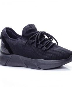 Pantofi dama sport textil negri Trisa