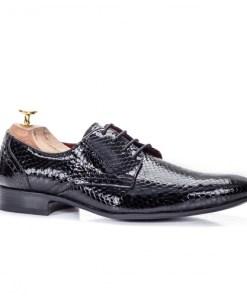 Pantofi eleganti barbati piele naturala negri Iuliseli